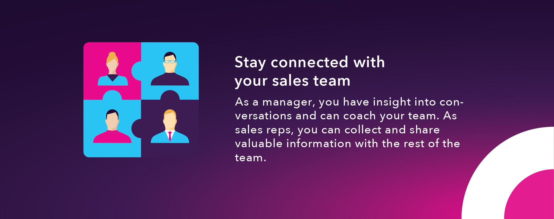 9. Stay connected with your sales team